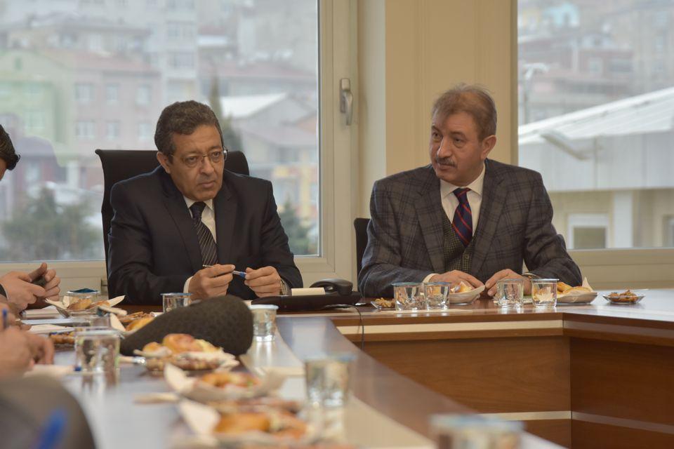 Libya Trablus Belediye Başkanı Abdurrauf Beytulmal, İSTAÇ'a dostluk ziyaretinde bulundu