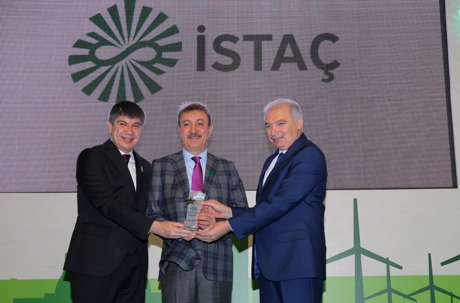 İSTAÇ'a Çevreci Tesis Ödülü