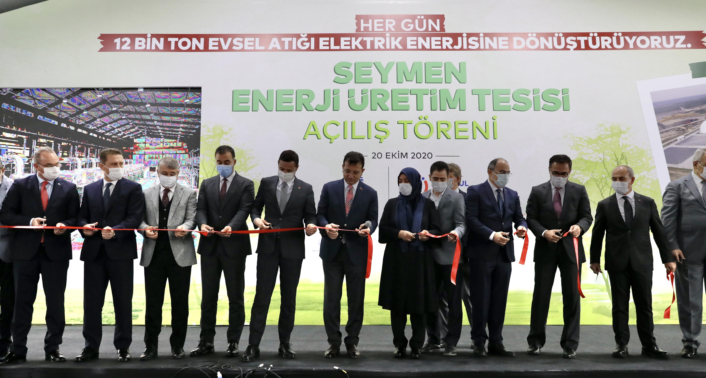 Seymen Çöp Gazı Enerji Üretim Tesisi 1. Etabı'nın Açılışı Yapıldı