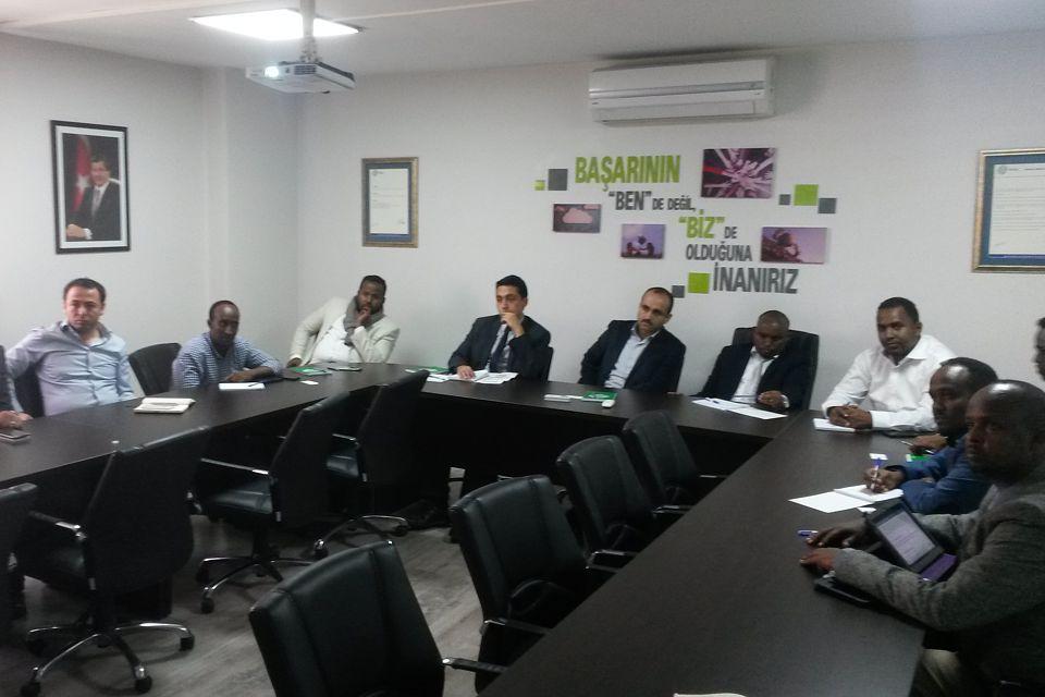 Somali Cumhuriyeti heyeti İSTAÇ'a ziyaret gerçekleştirdi